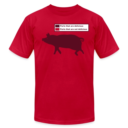 Bacon Pig Pork BBQ - Unisex Jersey T-Shirt by Bella + Canvas