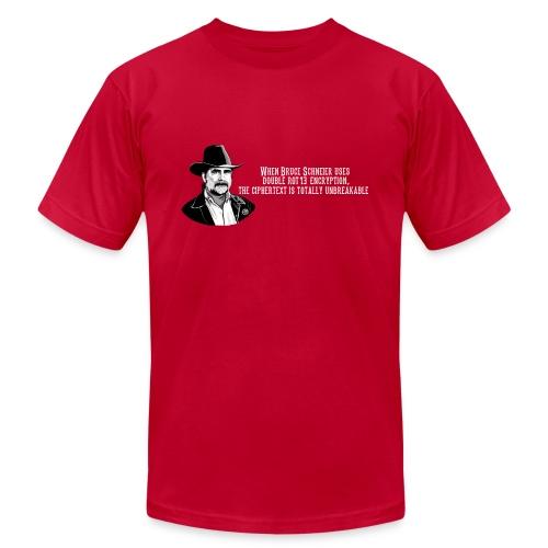 Bruce Schneier Fact #15 - Unisex Jersey T-Shirt by Bella + Canvas