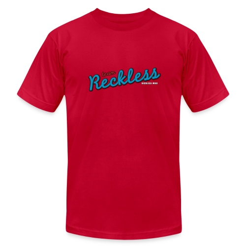 teamreckless logo blue2 png - Unisex Jersey T-Shirt by Bella + Canvas