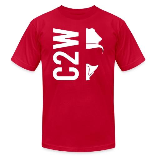 C2W Split Logo - White - Premium Tee - Unisex Jersey T-Shirt by Bella + Canvas