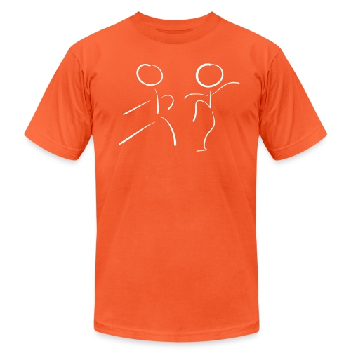 Tai Chi Stick Figures in White - Unisex Jersey T-Shirt by Bella + Canvas