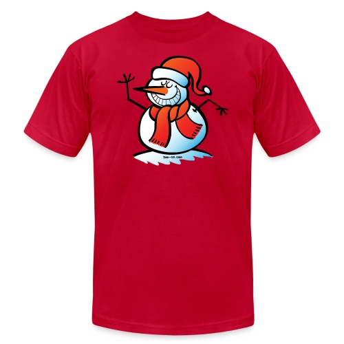 Grinning Snowman - Unisex Jersey T-Shirt by Bella + Canvas