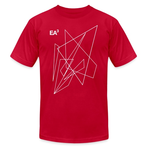 T Shirt EA3Triangles10 Bl - Unisex Jersey T-Shirt by Bella + Canvas