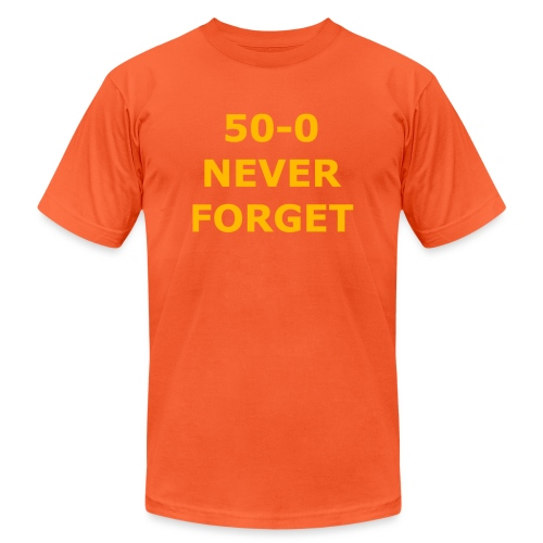 50 - 0 Never Forget Shirt - Unisex Jersey T-Shirt by Bella + Canvas