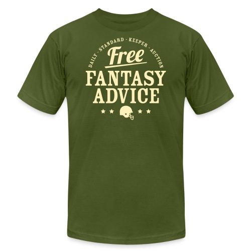 Free Fantasy Football Advice - Unisex Jersey T-Shirt by Bella + Canvas
