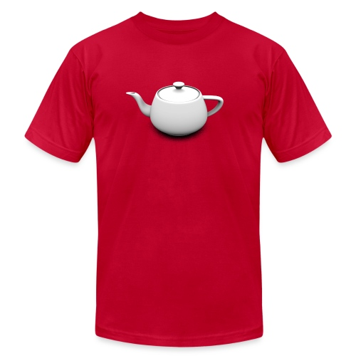 Utah Teapot Shadow - Unisex Jersey T-Shirt by Bella + Canvas