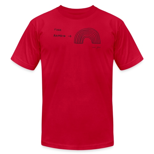 fake rainbow - Unisex Jersey T-Shirt by Bella + Canvas