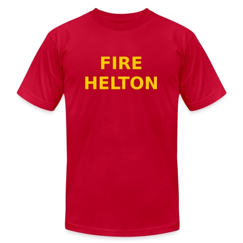 Fire Helton Shirt - Unisex Jersey T-Shirt by Bella + Canvas