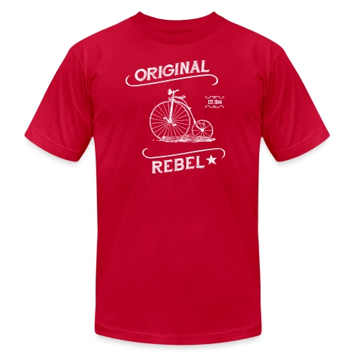 Original Rebel White - Unisex Jersey T-Shirt by Bella + Canvas