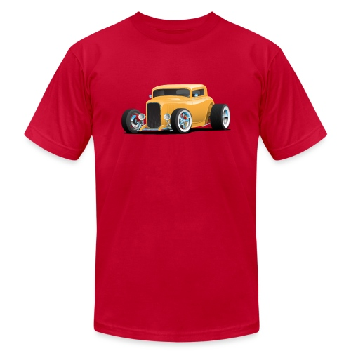 Classic American 32 Hotrod Car Illustration - Unisex Jersey T-Shirt by Bella + Canvas