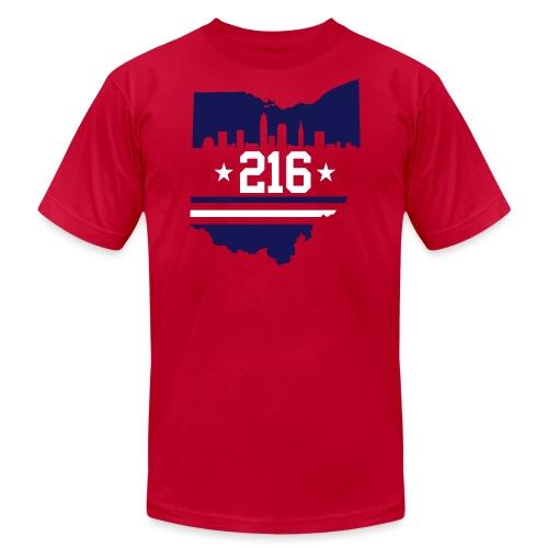 Cleveland 216 - Unisex Jersey T-Shirt by Bella + Canvas