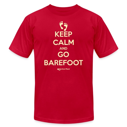 Keep Calm and Go Barefoot - Unisex Jersey T-Shirt by Bella + Canvas