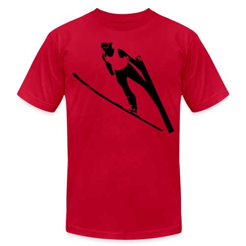 Ski Jumper - Unisex Jersey T-Shirt by Bella + Canvas