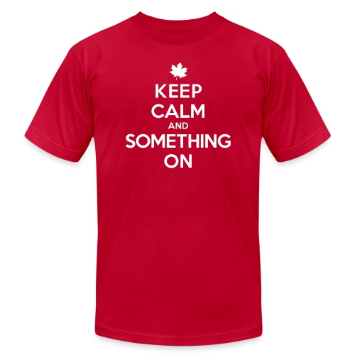 Something On - Unisex Jersey T-Shirt by Bella + Canvas