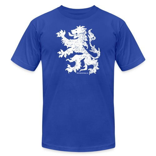 Dutch Lion (white) - Unisex Jersey T-Shirt by Bella + Canvas