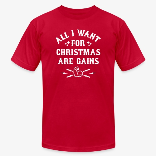 All I Want For Christmas Are Gains - Men's Jersey T-Shirt