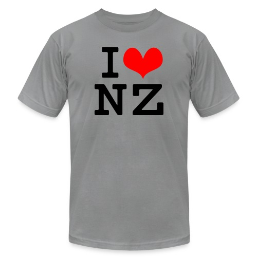 I Love NZ - Unisex Jersey T-Shirt by Bella + Canvas