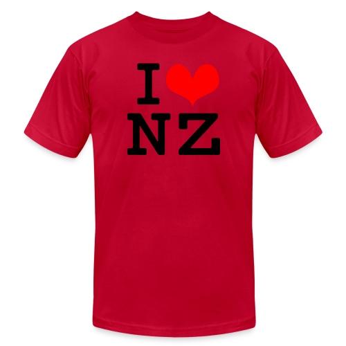 I Love NZ - Unisex Jersey T-Shirt by Bella + Canvas