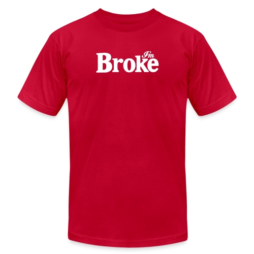 Diet Broke Coke Soda Parody Logo - Unisex Jersey T-Shirt by Bella + Canvas