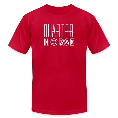 qh logo white png - Unisex Jersey T-Shirt by Bella + Canvas