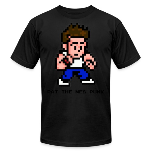 pat pixel7 with clear background black l - Unisex Jersey T-Shirt by Bella + Canvas