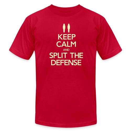 Keep Calm & Split the Defense - Unisex Jersey T-Shirt by Bella + Canvas