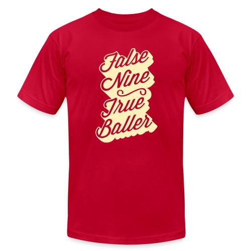False Nine True Baller - Unisex Jersey T-Shirt by Bella + Canvas