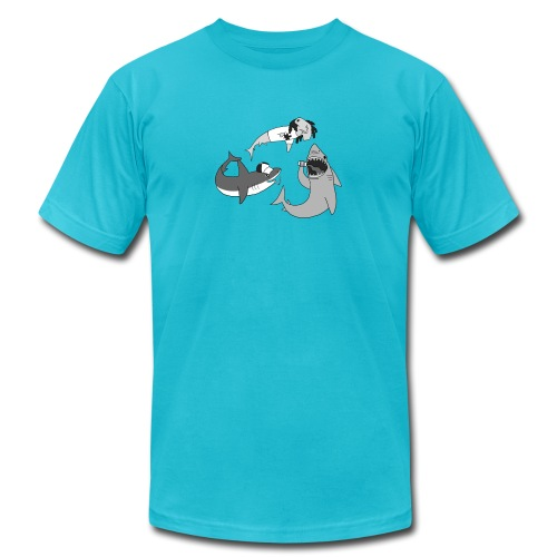 Party Sharks - Unisex Jersey T-Shirt by Bella + Canvas