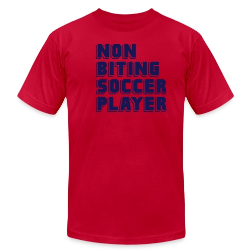 Non-Biting Soccer Player - Unisex Jersey T-Shirt by Bella + Canvas