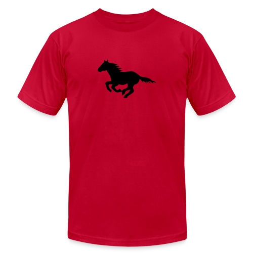 pony horse unbridled wild mustang unbridled rider - Unisex Jersey T-Shirt by Bella + Canvas