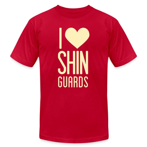 I Heart Shin Guards Women's Tee - Unisex Jersey T-Shirt by Bella + Canvas