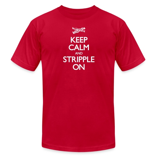Keep Calm and Stripple On - Unisex Jersey T-Shirt by Bella + Canvas