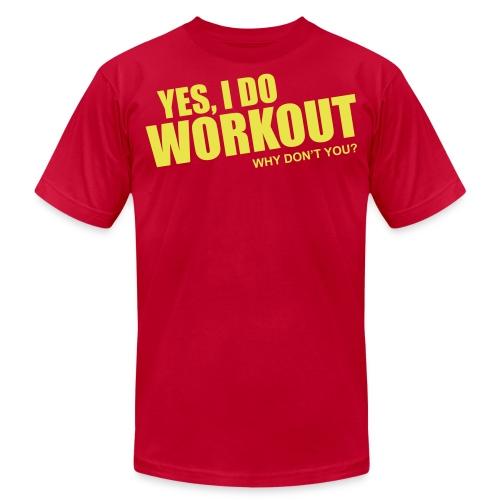 workout - Unisex Jersey T-Shirt by Bella + Canvas