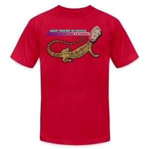 HILLARY THE LIZARD - Men's Fine Jersey T-Shirt