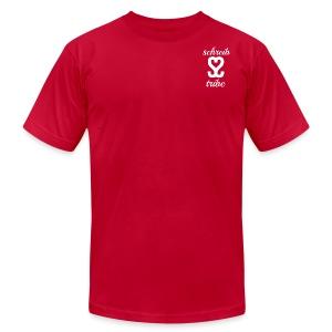 SCHREIB TRIBE MERCH WHITE LOGO - Men's Fine Jersey T-Shirt