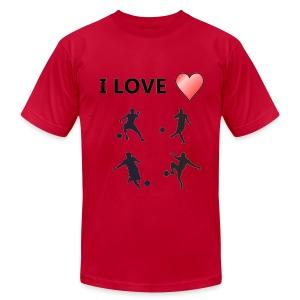 Geek T-shirt I love soccer - Men's Fine Jersey T-Shirt