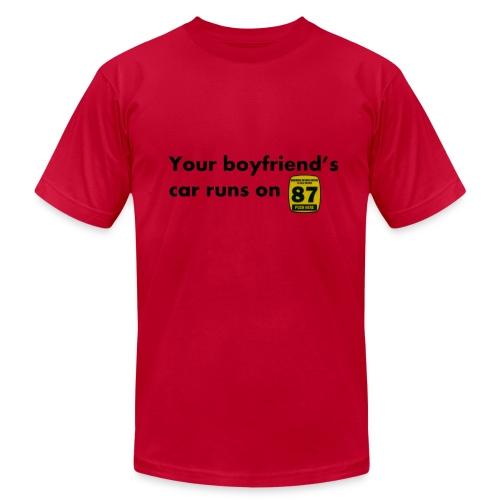 Boyfriend Gas Preference - Men's Fine Jersey T-Shirt