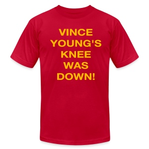 Vince Young's Knee Was Down - Men's T-Shirt by American Apparel