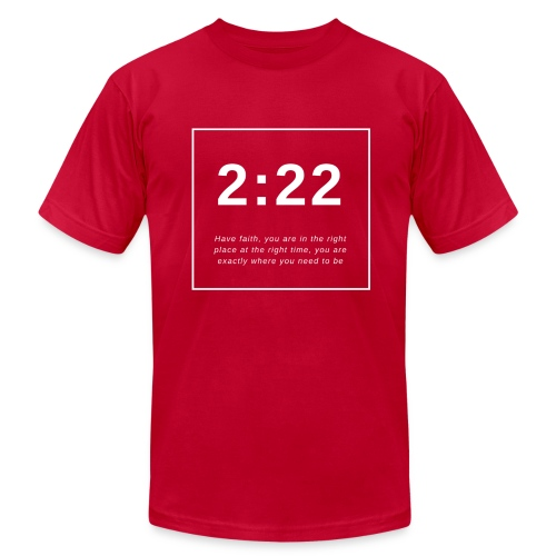 Angel Number 2:22 - Men's  Jersey T-Shirt