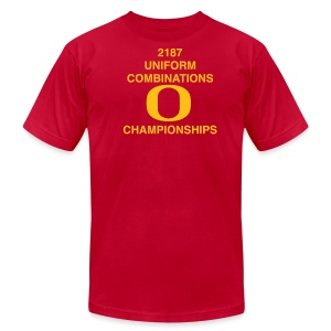 2187 UNIFORM COMBINATIONS O CHAMPIONSHIPS - Men's T-Shirt by American Apparel