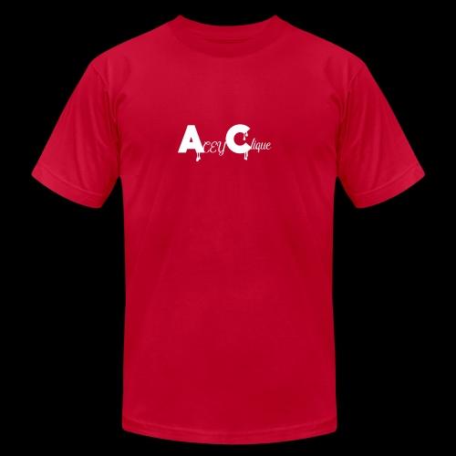 AceyClique White Logo - Men's Fine Jersey T-Shirt