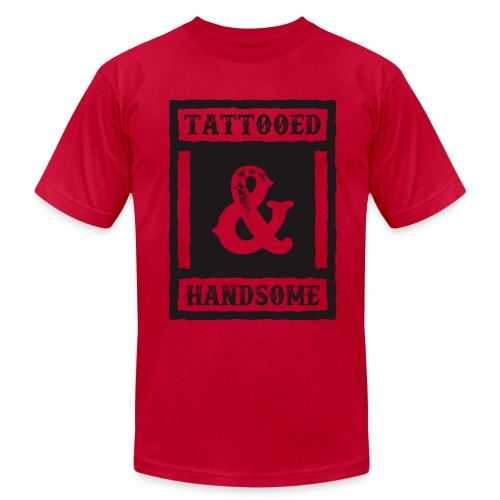 TATTOOED & HANDSOME - Men's Fine Jersey T-Shirt