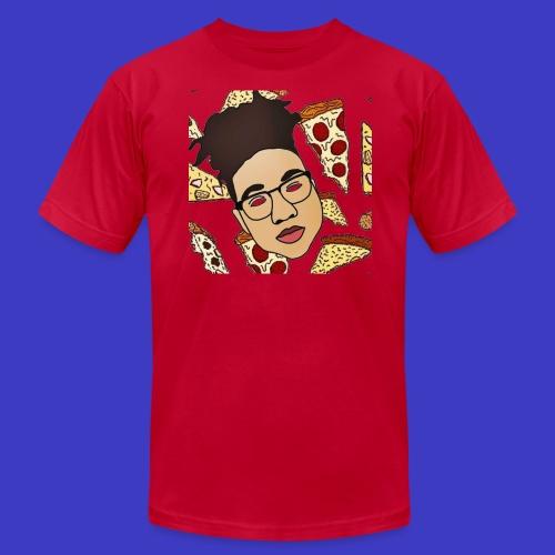 Draco on Pizza - Men's Fine Jersey T-Shirt