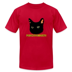 PunchTheEarth Cat with Text - Men's Fine Jersey T-Shirt