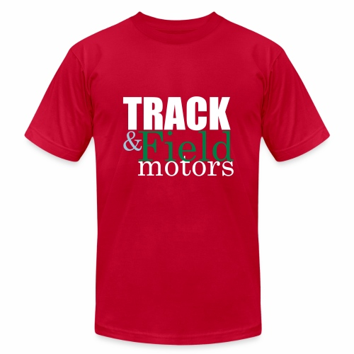 Track and Field Logo - Men's Fine Jersey T-Shirt