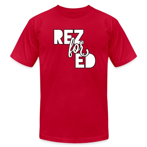 Rez For Ed Tee - Men's Fine Jersey T-Shirt