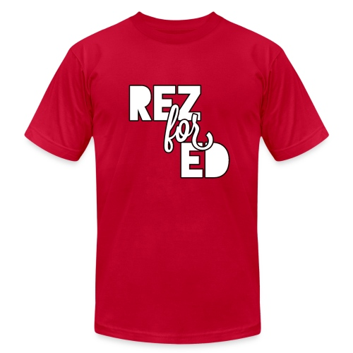 Rez For Ed Tee - Men's Fine Jersey T-Shirt