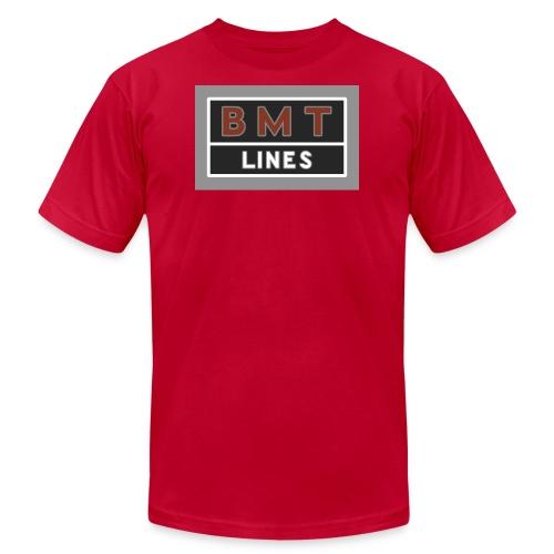 NYC Brooklyn Mass Transit - Men's Fine Jersey T-Shirt