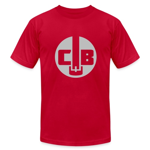 TCB Logo Grey One Color - Men's Fine Jersey T-Shirt