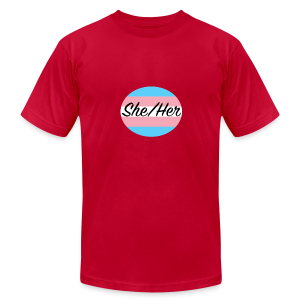 She/Her - Men's Fine Jersey T-Shirt